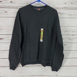 Hanes Men's Crew Grey Sweatshirt
